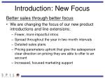 introduction new focus