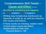 comprehension skill tested cause and effect te 291a