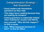 comprehension strategy ask questions