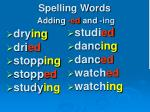 spelling words adding ed and ing1