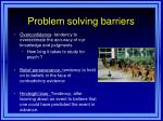 problem solving barriers1