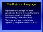 the brain and language1
