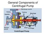 general components of centrifugal pump