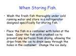 when storing fish
