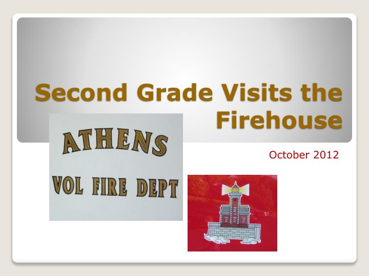 second grade visits the firehouse n.