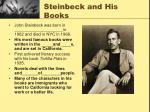 steinbeck and his books