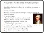 alexander hamilton s financial plan
