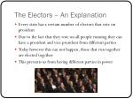 the electors an explanation