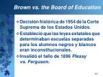 brown vs the board of education