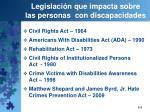 legislaci n que impacta sobre las personas con discapacidades