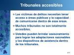 tribunales accesibles