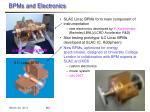 bpms and electronics