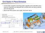 end station a plans schedule1