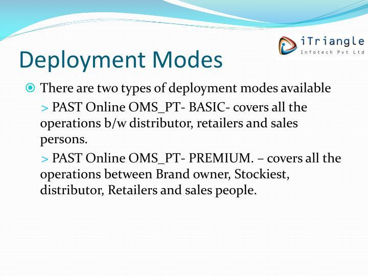 Deployment Modes