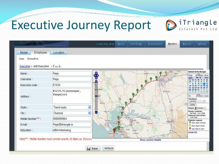 Executive Journey Report