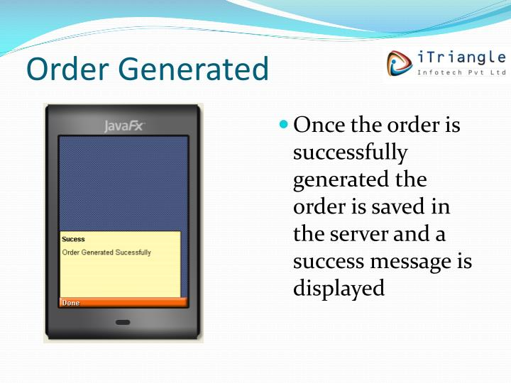 Order Generated