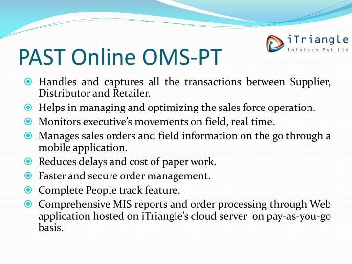 Past online oms pt