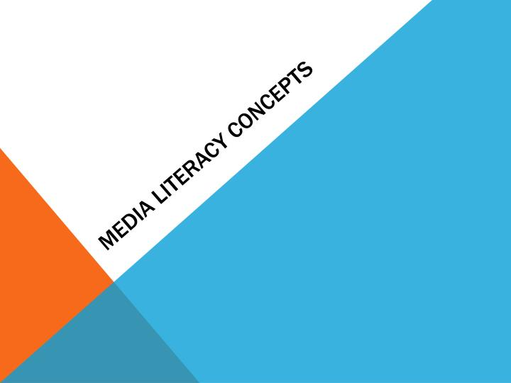 media literacy concepts n.