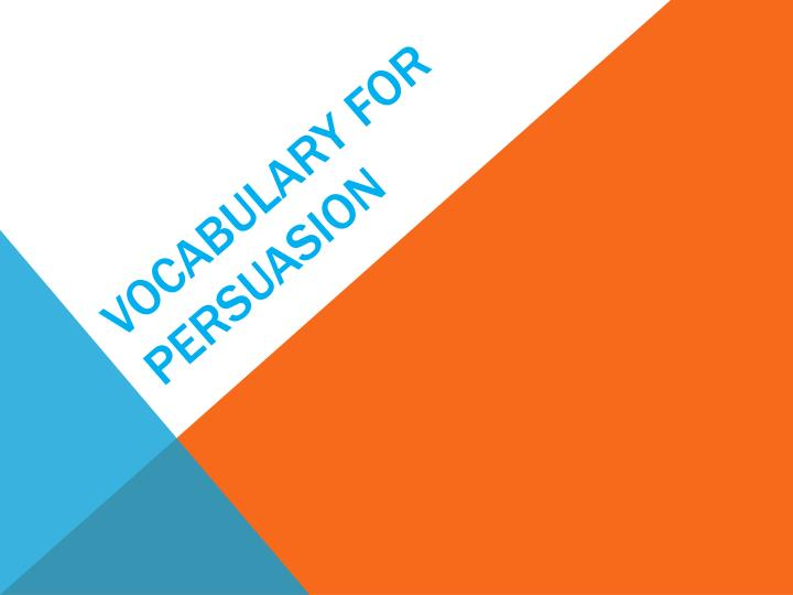 vocabulary for persuasion n.