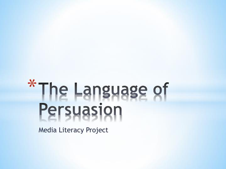 the language of persuasion n.