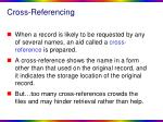 cross referencing