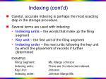 indexing cont d