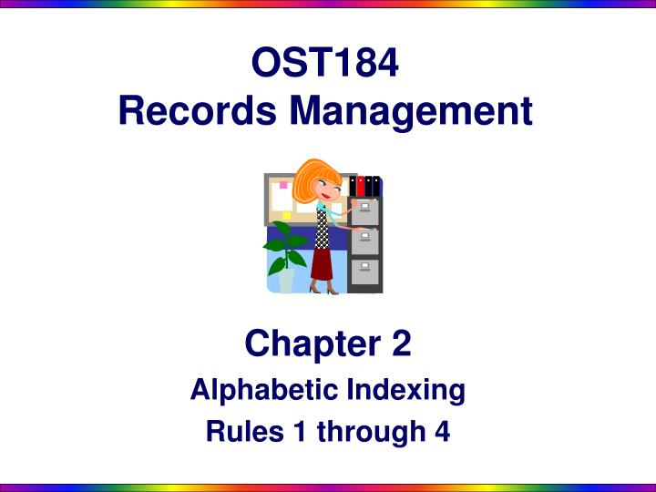 ost184 records management n.
