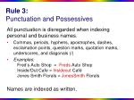 rule 3 punctuation and possessives
