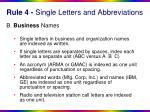 rule 4 single letters and abbreviations1