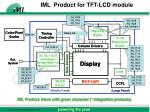 iml product for tft lcd module