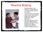 reactive bullying