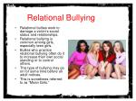 relational bullying