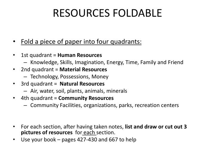 resources foldable n.