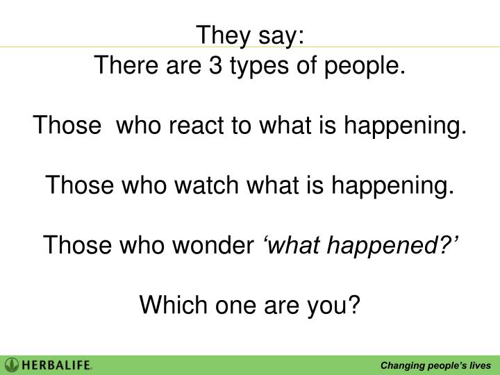 They say: