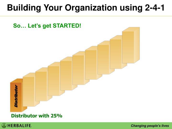 Building Your Organization using 2-4-1