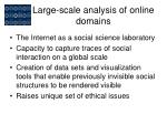 large scale analysis of online domains