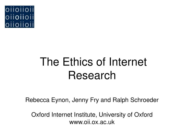 the ethics of internet research n.