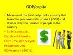 gdp capita