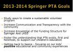 2013 2014 springer pta goals