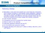 product competition overview
