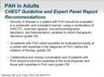 pah in adults chest guideline and expert panel report recommendations