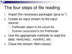 the four steps of file reading