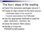 the four steps of file reading1