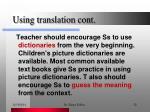 using translation cont