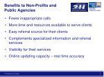benefits to non profits and public agencies