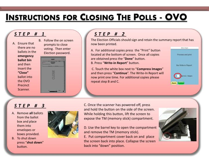Instructions for Closing The Polls - OVO