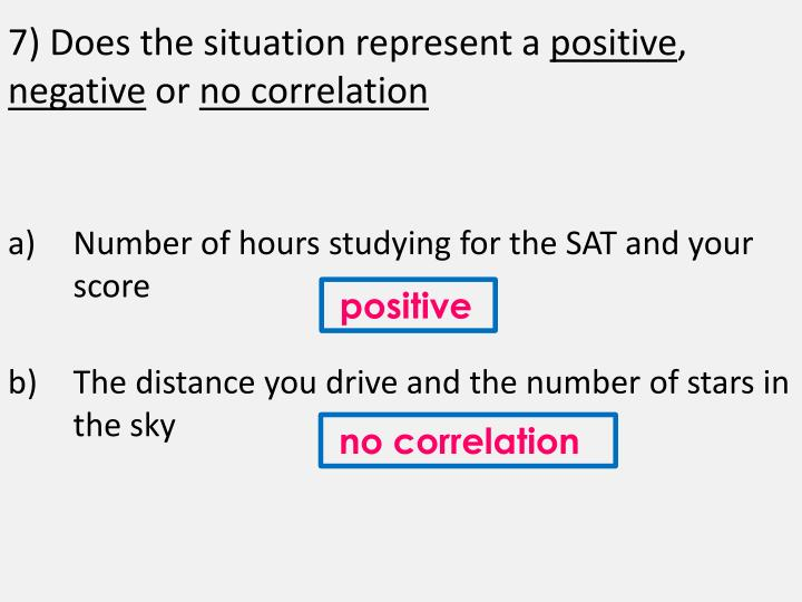 7) Does the situation represent a