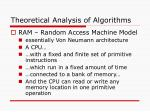 theoretical analysis of algorithms1