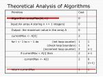 theoretical analysis of algorithms11