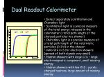 dual readout calorimeter
